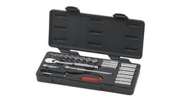 "GearWrench Socket Set 1/4"" Drive Standard & Deep 6pt & 12pt BlowMold Case MET 22Pc"
