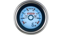 REDARC Digital Dual Voltmeter 52mm Gauge 6-16V G52-VVA
