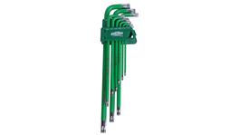 888 By SP Tools Key Set 9Pc Torx Hex (Green)